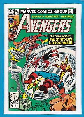 """Avengers #207_May 1981_Fine+_Vision_Beast_""""the Shadow Lord Cometh""""_Bronze Uk!"""
