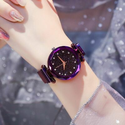 Luxury Women Watches Ladies Magnetic Starry Sky Fashion Diamond Female