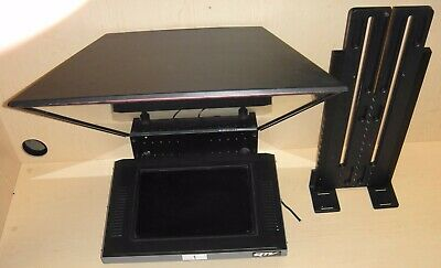 Q-Tv Flat Panel Prompter Fdp-15-Hb With Camera Mount And Hood