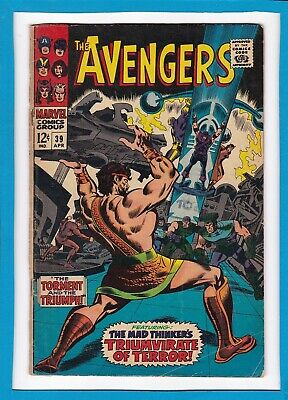 """Avengers #39_April 1967_G/vg_Mad Thinker_""""torment And The Triumph""""_Silver Age!"""