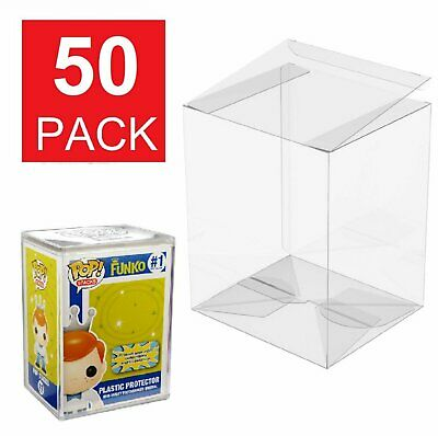 50 Funko POP Acid-Free Crystal Clear Protector case For 4 inch  Vinyls Figures