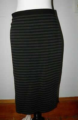 e12a42cfb79 Eileen Fisher Petite Wool Pull-On Knit Pencil Skirt Black   Gray Petite M