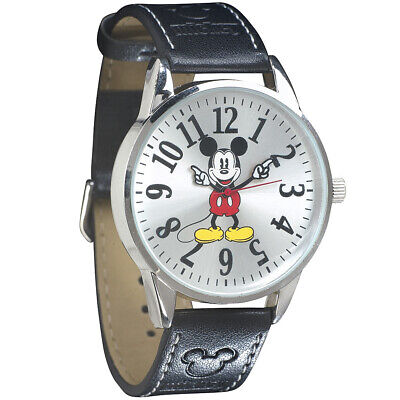 NEW Disney Classic Mickey Mouse Leather Band Wrist Watch