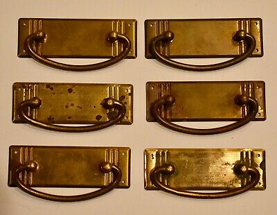 Sturdy European Pressed Brass Deco Style Bail Pulls for Drawers