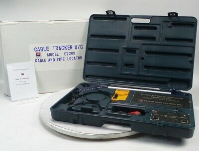 NEW Psiber CT200 Underground Cable & Pipe Tracker 8ft Detect High Low Frequencie