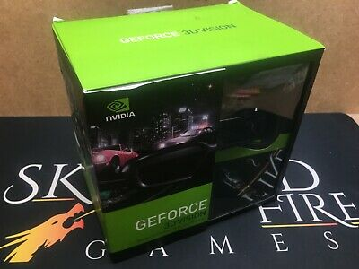 Boxed NVIDIA 3D vision Glasses Kit + IR Unit Wireless Emitter *x 073