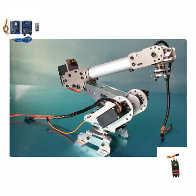 6 Axis Assembled Robotic Mechanical Arm Gripper Kit with Servo For Raspberry