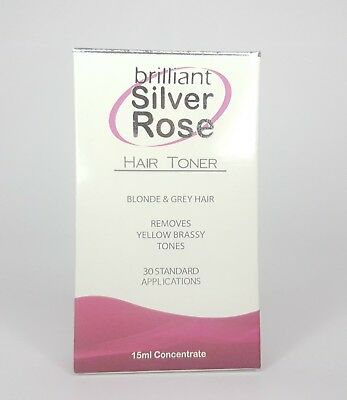 Brilliant Silver Rose15ml Hair Toner AMAZING PRODUCT Free Post