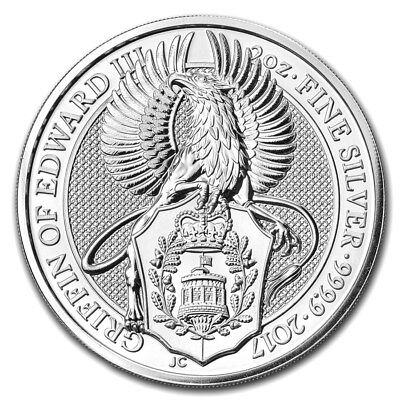 2017 Great Britain 2 oz Silver Queen's Beasts The Griffin- 2nd Coin in Series