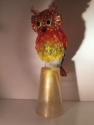 Murano Glass AVEM Figure Of An Owl( Sculpure)