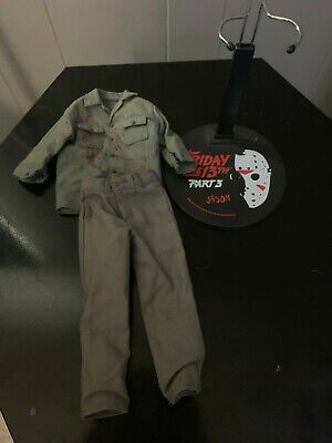 1/6 Sideshow Friday the 13th Part 3 Jason Shirt Pants Stand for Custom