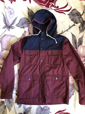 a9fcdebf437 H&M DIVIDED JACKET Parka Size S Red Maroon Navy