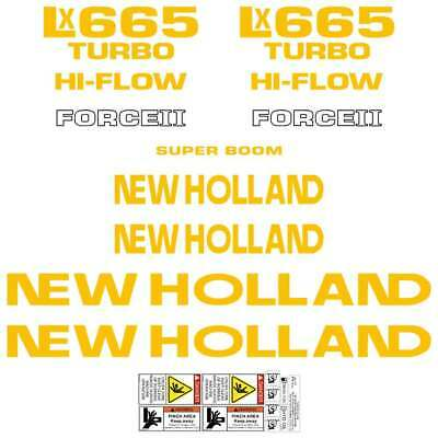New Holland NH LX665 LX865 Decals Stickers
