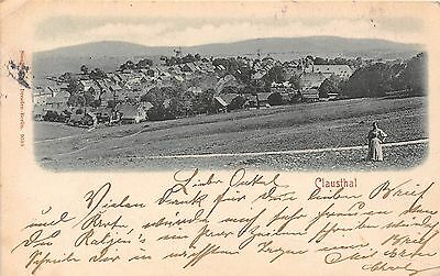 Germany postcard Clausthal ca 1904 panorama view