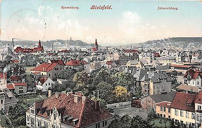 Germany postcard Bielefeld panorama view ca 1912
