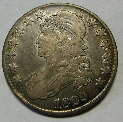 1829 Capped Bust Silver Half Dollar Grading XF Priced Right and Shipped FREE  b4