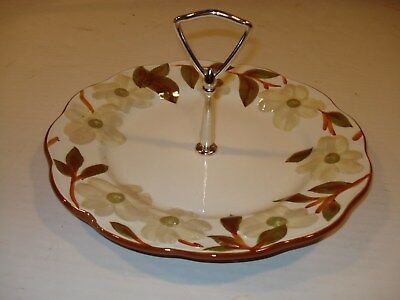 Stangl Pottery Handpainted Colonial Dogwood Pattern Tidbit/Cookie/Serving Tray