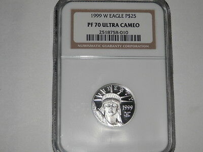 1999-W  $25 1/4 oz Proof Platinum American Eagle PR-70 NGC