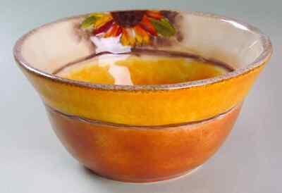Clay Art TUSCAN SUNFLOWER Soup Cereal Bowl 6472072