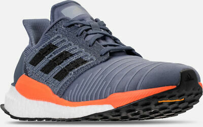 timeless design d90d3 ab4f7 Mens Adidas Solar Boost Running Shoes Tech Ink  Grey  Orange Sz 9.5  CQ3169