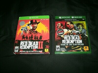 Red Dead Redemption 2 Steelbook And RDR: GOTY Xbox One Brand New Factory Sealed