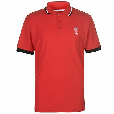 5008a3ab2cb Liverpool Crest Polo Shirt Mens Red Football Soccer Fan Top Tee T-Shirt