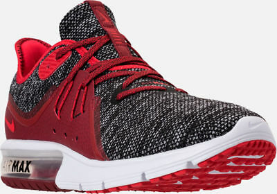 595b41d83c Men's Nike Air Max Sequent 3 Running Shoes Black / Red / White S 12 921694