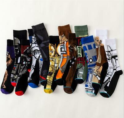 Men Novelty Cartoon Star Wars Fashion Socks Cotton Skateboard Sports Funny Socks
