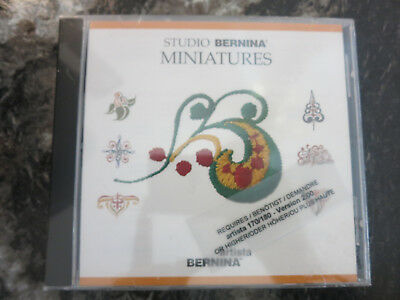Bernina Embroidery Designs Card -Miniatures for Artista Series and Deco 330 340