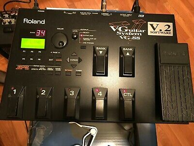 Roland VG-88 Multi-Effects Guitar Effect Pedal and Roland KG-2A Divided Pickup