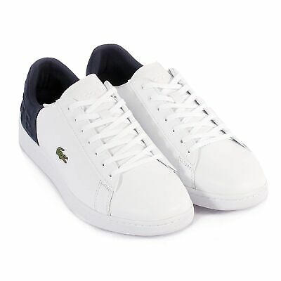 6ee36de2f8346 LACOSTE MEN S CARNABY Evo 318 2 Leather   Suede Trainer White   Navy ...