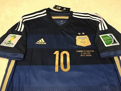 741f2191f8a Argentina Messi Away Soccer Jersey Fifa World Cup Brasil 2014 Barcelona  Original