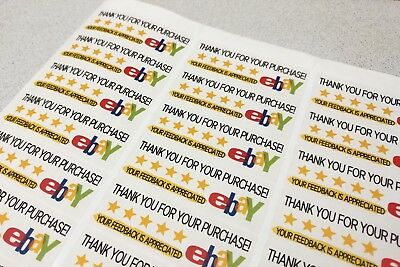 eBay Thank You For Your Purchase / Business Labels / Stickers Sheets