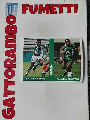 PANINI WC WM FRANCE 98 1998 N 252 NIGERIA EGUAVON WITH BLACK BACK MINT!!
