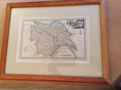 Antique Map of Yorkshire, Conder/Hogg
