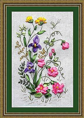 Panna Ribbon Embroidery Kit - Summer Meadow C-0761 - Flowers