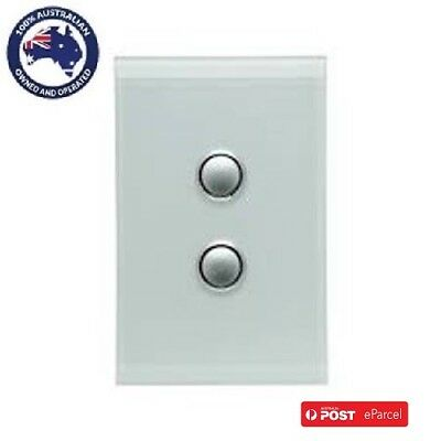 Clipsal Saturn 4062PBL 2Gang Led Push button switch Complete Unit in all Colours