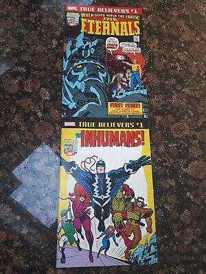 True believers comics (NM) The Inhumans + The Eternals Jack Kirby Marvel