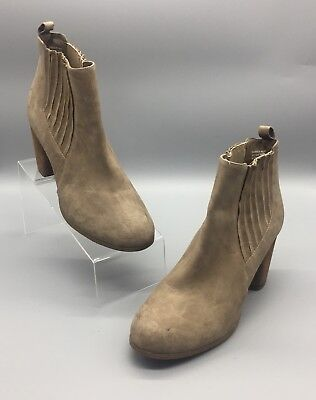 22a05f4c532 Madden Girl by Steve Madden Womens Size 9 WW Dominic Taupe Block Heel Bootie