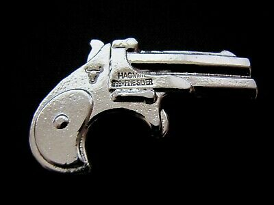 HACMint 4.7 oz 999+ Fine Silver DERRINGER LONGHORN PISTOL Hand Poured ART BAR