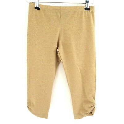 Young Dimension Primark Sparkly Gold cropped leggings 9-10 years BNWT