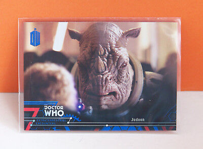 Topps Doctor Who Extraterrestrial Encounters Judoon #34 Blue parallel card 29/99