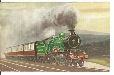 "RARE RAILWAY POSTCARD,1960'S STEAM TRAIN""G.C.R.:4-4-2,No 363,NEAR HADFIELD,1964"