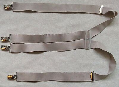 Braces Suspenders Mens Vintage BEIGE ADJUSTABLE SIZE SKINHEAD SKA 1970s 1980s
