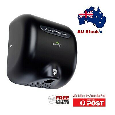 Dolphy Wall-Mounted ABS High Speed 1800W European style Hand Dryer - Black