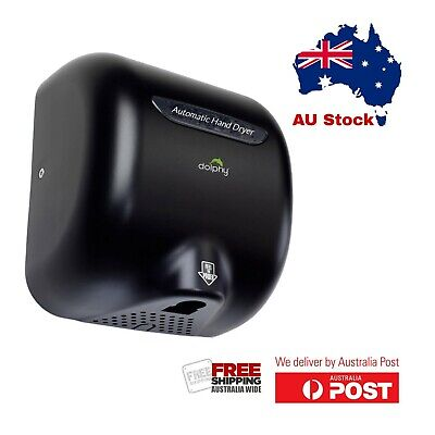 Dolphy Wall-Mounted ABS High Speed European Style Hand Dryer 1800W - Black