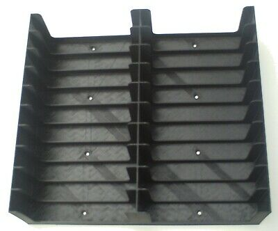 Black Cassette Tape stand/rack/trays with 6 screws (Holds 20 tapes, 2x10)