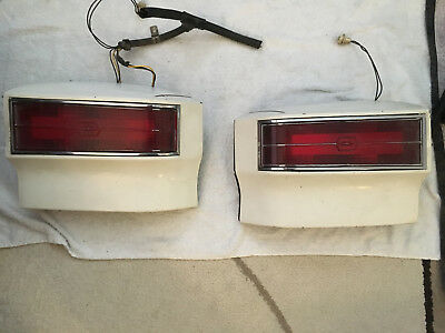 1976 1977 oldsmobile cutlass taillights (pair) white good condition