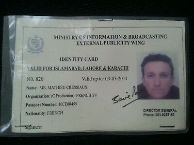- amp; 1 Picclick Card French Pakistan Ministry 99 Person 1 Tv France Information Id Broadcasting