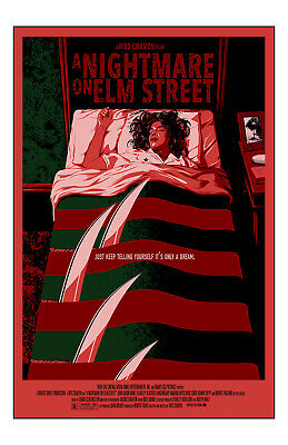A Nightmare On Elm Street Movie Poster 11x17in/28x43cm Robert Englund Wes Craven